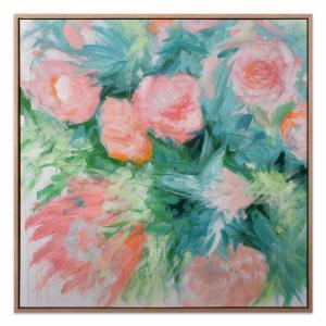 Flower Bed - Painting - Natural Frame - One Only