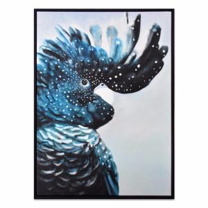 Cockatoo Teal - Painting - Black Frame - One Only