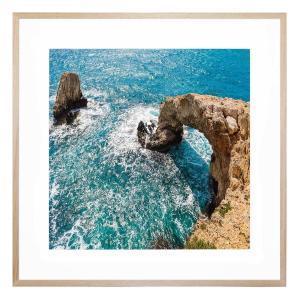 Cyprus Landing - Framed Print - Natural Frame - ONE ONLY