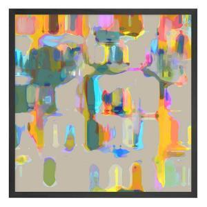 Books In Colour - Framed Print - Black Frame - ONE ONLY