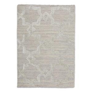 Estelle Trellis Modern Silk Rug - Pearl
