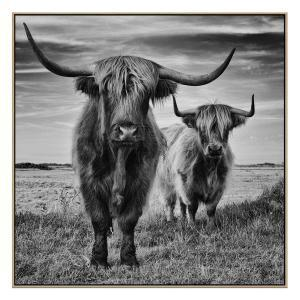 The Standoff - Canvas Print - Natural Shadow Frame (Clearance)