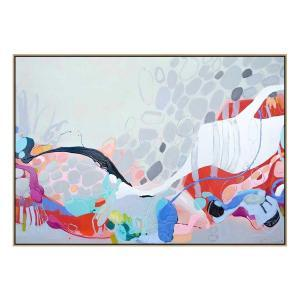 When I Let You Misbehave - Canvas Print - Natural Shadow Frame (