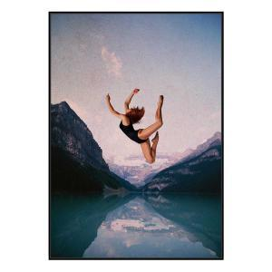 Falling - Canvas Print - Black Shadow Frame - (Clearance)