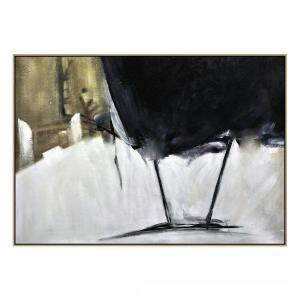 Black and Gold - Hand Paint - Black Shadow Frame - (Clearance)