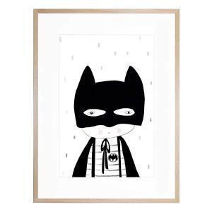 Be Batman - Framed Print - Natural Shadow Frame (Clearance)