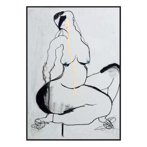 Gertrud - Canvas Print - Black Shadow Frame - (Clearance)