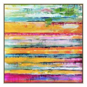 Colours Will Crash - Painting - Natural Shadow Frame (Clearance)