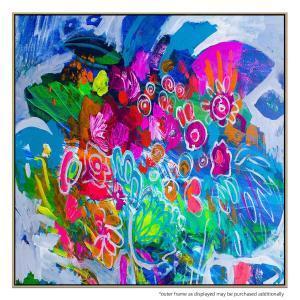 Fluro Blooms 4 - Print