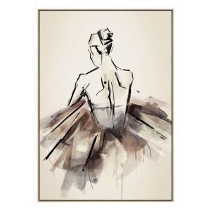 The Ballerina - Print - Natural Floating Frame (Showroom Clearan