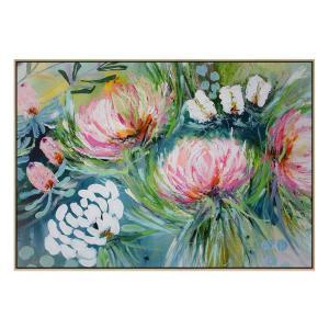 Garden of Love - Painting - Natural Floating Frame