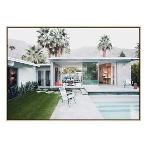 Palm Springs Cool - Print - Natural Floating Frame