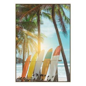 Five Surfers 2 - Print - Natural Floating Frame (Showroom Cleara