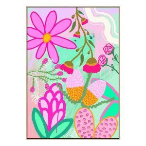 Botanica No.2- Print - Natural  Floating Frame (FLASH SALE)
