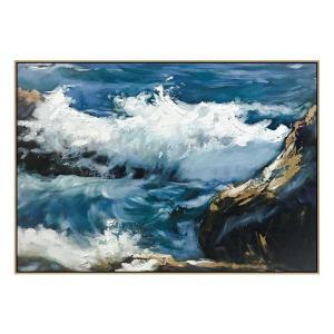 Off The Rocks - Painting -Natural Floating Frame (Clearance Sale