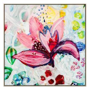 Reality Bloom - Painting -Natural Floating Frame