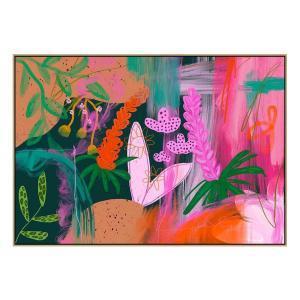 Floria - Print - Natural Floating Frame