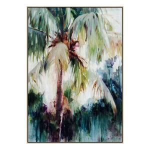 Havana Palms - Painting - Natural Floating Frame