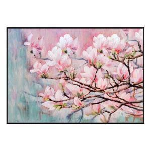 Kyoto Blossoms - Print - Black Floating Frame