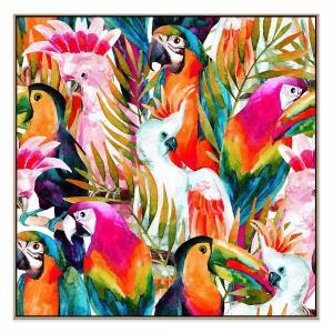 Dance Of The Birds - Print - Natural Floating Frame