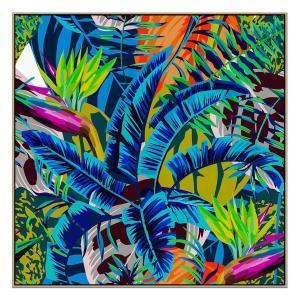 Blue Tropic - Print - Natural Floating Frame