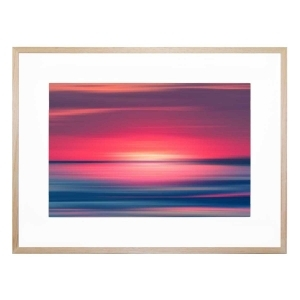 Abstract Sunset - Natural Framed Print