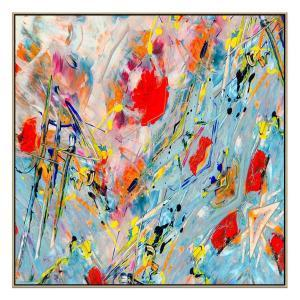Kadinsky Homage - Painting - Natural Floating Frame