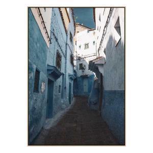 Moroccan Blue II - Print - Natural Floating Frame