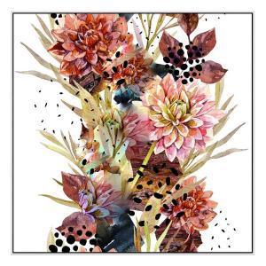 Dried Florals - Print - Black Floating Frame