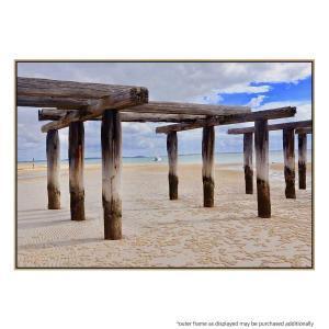 Old McKenzie Jetty III - Print - Natural Floating Frame