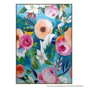 Flores Papier - Painting - Natural Floating Frame