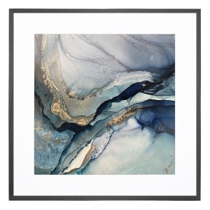 Deep Blue 1 - Framed Print - Black Frame