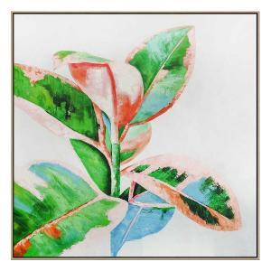 Living Color - Painting - Natural Floating Frame