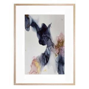 INK COMPOSITION 22 - Framed Print  - Natural Frame