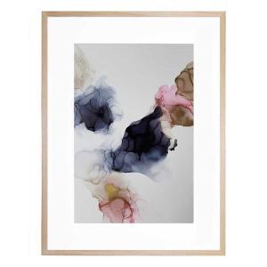 INK COMPOSITION 23 - Framed Print  - Natural Frame