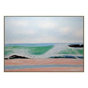 Gunnamatta - Painting - Natural Floating Frame