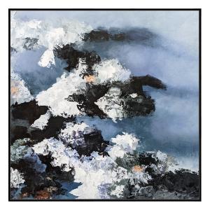 Paris Bloom 4 - Painting - Black Floating Frame
