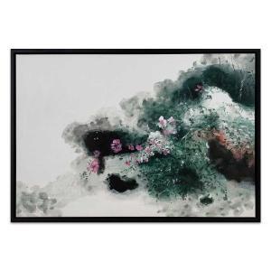 Fioretti - Painting - Black Floating Frame