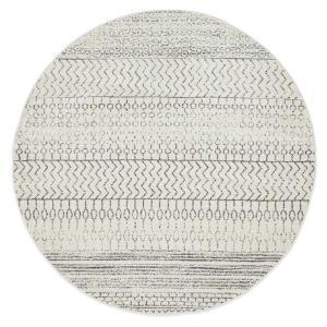 Chrome Harper Rug - Silver - Round