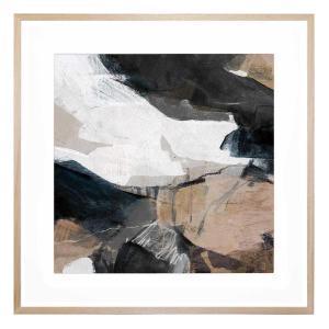 Slated Form - Framed Print - Natural Frame