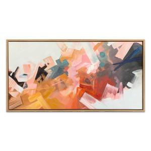 Pastella 3 - Painting - Natural Floating Frame