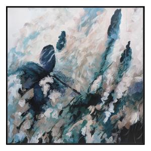 Autumnal Elements - Painting - Black Floating Frame