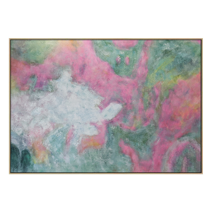 Touch - Painting - Natural Floating Frame