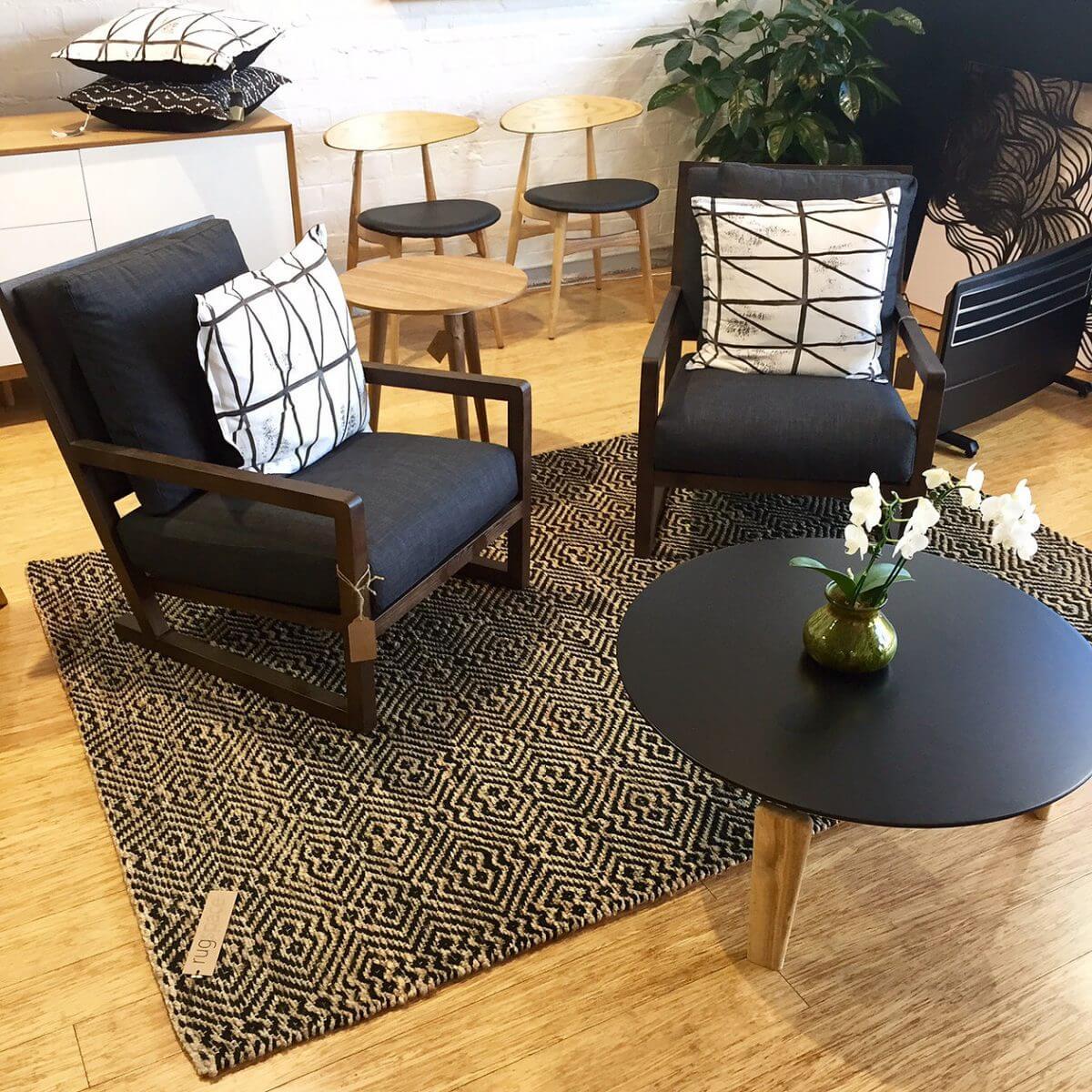 James Treble for rugspace rug wool organic texture rug silla furniture united interiors
