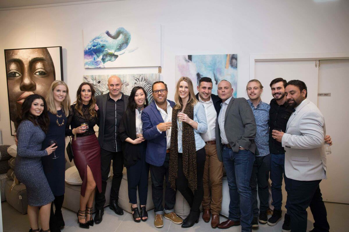 united interiors showroom opening launch party team