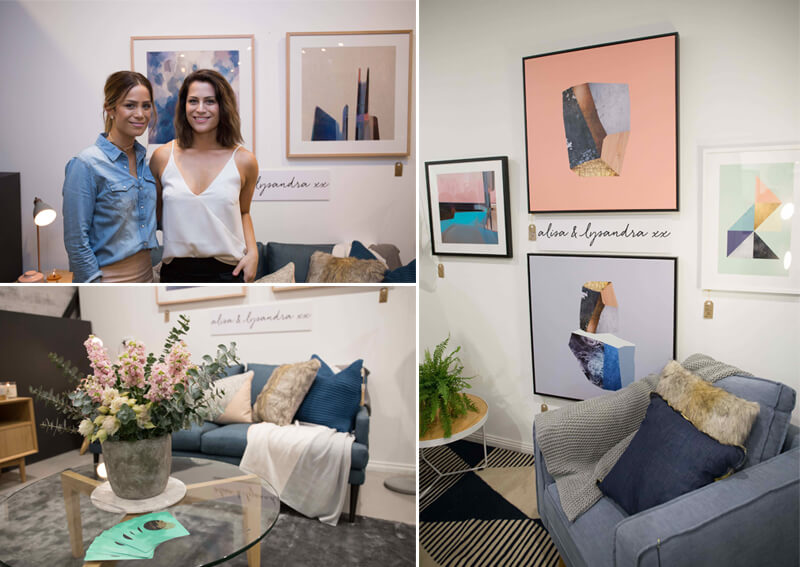 alisa and lysandra twins the block united interiors showroom launch party pictures bespoke botanics