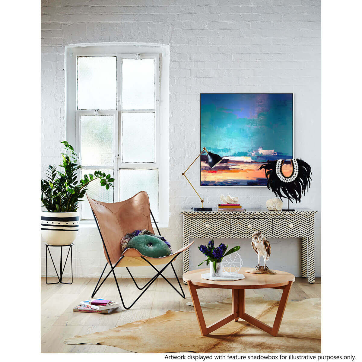 blue-block_ sway hand painted art hand painting spring inspired pop of colour bright vibrant on trend contemporary art