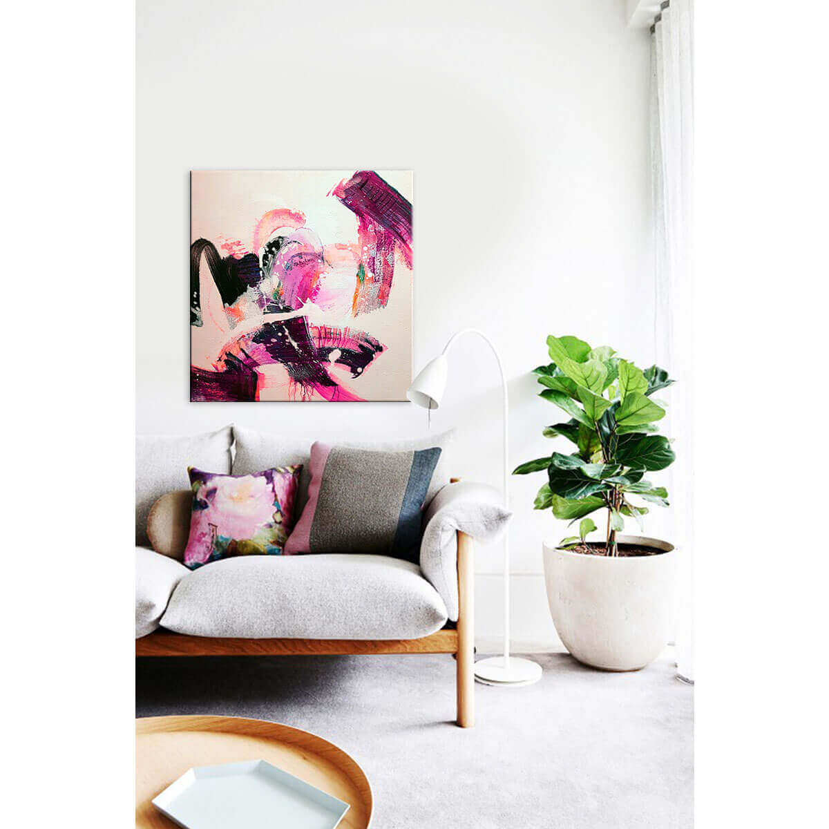 sway hand painted art hand painting spring inspired pop of colour bright vibrant on trend contemporary art