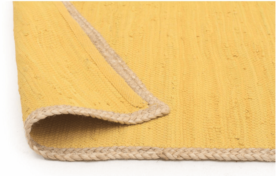 RUG|SPACE - ATRIUM PLAY - YELLOW yellow jute rug united interiors rugspace