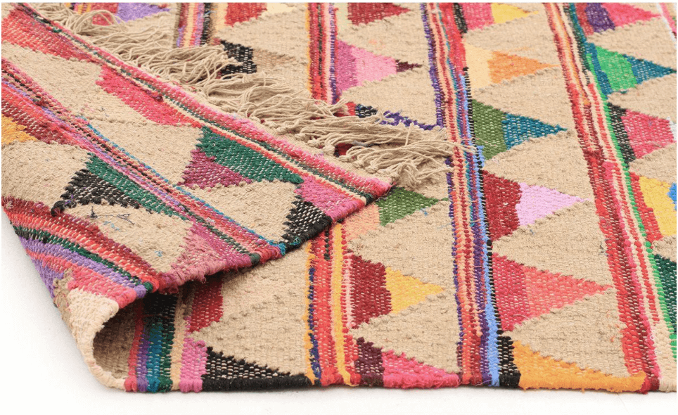 RUG|SPACE - ATRIUM BUNTING - MULTI united interiors rugspace rainbow jute rug tribal summer